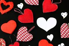 Heart shape on black background Royalty Free Stock Images