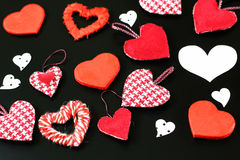 Heart shape on black background Stock Photos