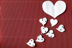 Heart shape on black background Royalty Free Stock Photography