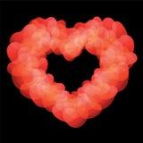 Heart shape on black background. Royalty Free Stock Image