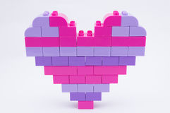 Heart Shape Blocks. The love comes in small block of details Stock Photos