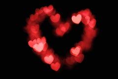 Heart shape bokeh Stock Photo