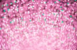 Heart shape bokeh abstract background stock images