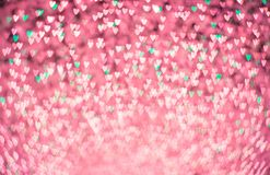 Heart shape bokeh abstract background royalty free stock photos