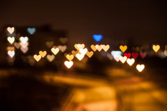 Heart shape bokeh Royalty Free Stock Photo