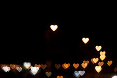 Heart shape bokeh Royalty Free Stock Photos