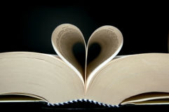 Heart shape with book Royalty Free Stock Images