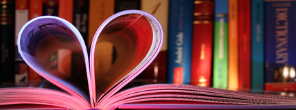 Love for books Royalty Free Stock Photo