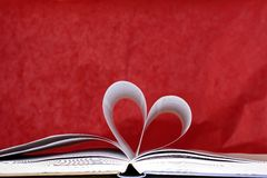 Heart shape of book pages Stock Photography