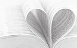 Heart shape book Stock Image