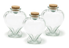 Heart Shape Bottles Stock Photo