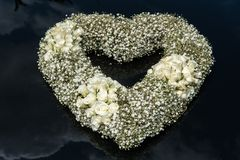 Heart shape bouquet of flowers royalty free stock photos