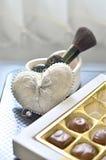 Heart shape box Stock Photos