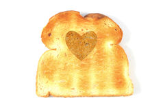 Heart shape bread Stock Images