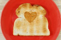 Heart shape bread Royalty Free Stock Image