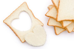 Heart shape bread Royalty Free Stock Photography