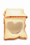 Heart shape bread Royalty Free Stock Photos