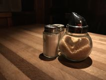 Heart shape in brown sugar royalty free stock photos