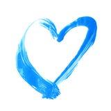 Heart shape brush stroke frame Stock Photo