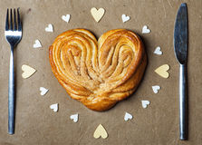 Heart shape bun Stock Image