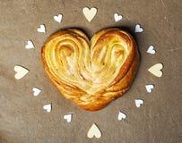 Heart shape bun Royalty Free Stock Image