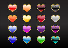 Heart Shape Buttons Stock Images