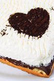 Heart Shape on Cake Stock Images