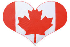 Heart shape Canadian Flag Stock Photography
