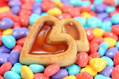 Heart shape candies Royalty Free Stock Images