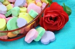 Heart shape candies Stock Photos