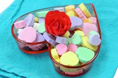 Heart shape candies Stock Photography
