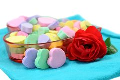 Heart shape candies Stock Photos