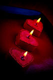 Heart shape candles Royalty Free Stock Photography