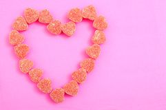 Heart shape candy Royalty Free Stock Photo