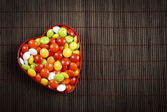 Heart Shape candy box Stock Image