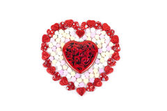 Heart shape candy for valentine Stock Image