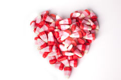 Heart shape of candy for Valentine's Day Stock Images