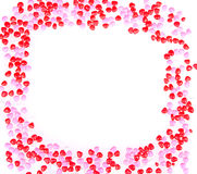 Heart shape candy on white Royalty Free Stock Photography