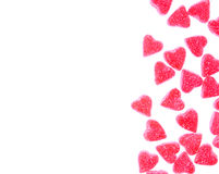 Heart shape candy on white Royalty Free Stock Photos
