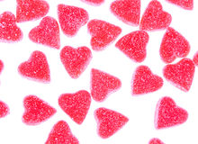 Heart shape candy on white Stock Photo