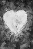 Heart shape on canvas Stock Photo