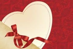 Heart shape cardboard Royalty Free Stock Image