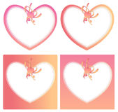 Heart Shape Cards Stock Images