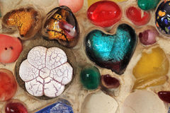 Heart Shape ceramic wall Royalty Free Stock Photos