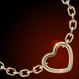 Heart shape on chain Royalty Free Stock Photos