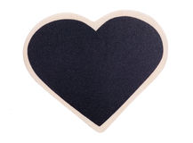 Heart shape chalk board. Studio cutout royalty free stock photos