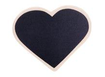 Heart shape chalk board Royalty Free Stock Photos