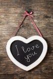 The heart shape chalkboard Stock Images