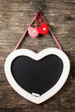The heart shape chalkboard Royalty Free Stock Photos