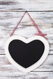 The heart shape chalkboard Royalty Free Stock Images